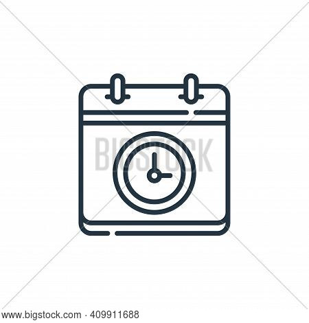 time icon isolated on white background from calendar and date collection. time icon thin line outlin