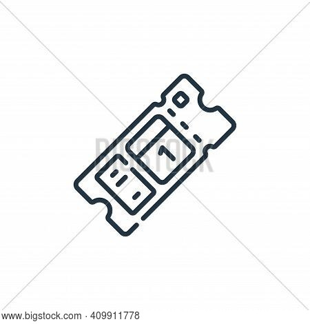 ticket icon isolated on white background from calendar and date collection. ticket icon thin line ou