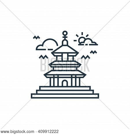 temple icon isolated on white background from tourism collection. temple icon thin line outline line