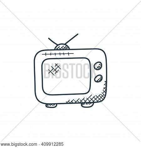 television icon isolated on white background from technology collection. television icon thin line o