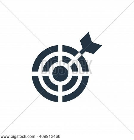 target icon isolated on white background from advertisement collection. target icon thin line outlin