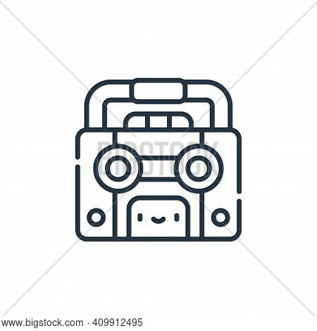 tape recorder icon isolated on white background from reggae collection. tape recorder icon thin line