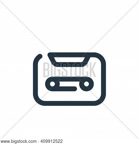 tape icon isolated on white background from multimedia collection. tape icon thin line outline linea
