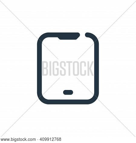 tablet icon isolated on white background from multimedia collection. tablet icon thin line outline l