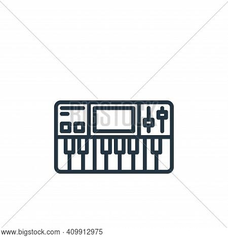 synthesizer icon isolated on white background from stay at home collection. synthesizer icon thin li