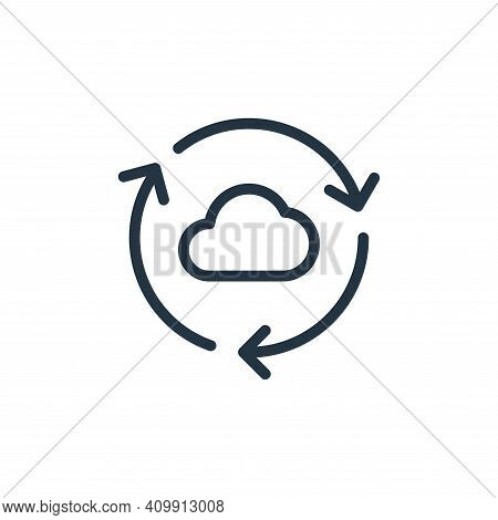 synchronize icon isolated on white background from data transfer collection. synchronize icon thin l