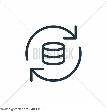 sync icon isolated on white background from work office server collection. sync icon thin line outli