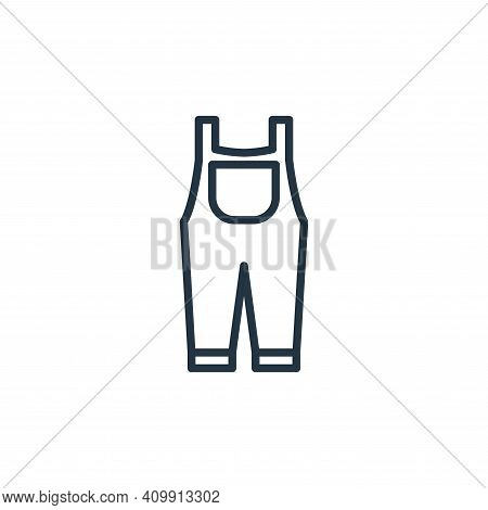 suspenders icon isolated on white background from wardrobe collection. suspenders icon thin line out