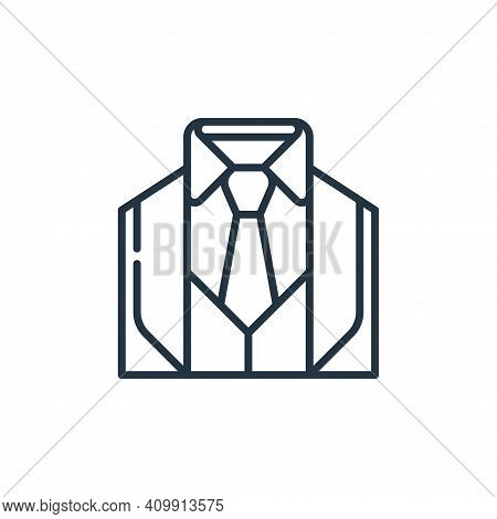suit icon isolated on white background from management collection. suit icon thin line outline linea