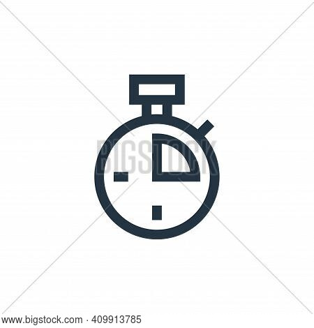 stopwatch icon isolated on white background from soccer collection. stopwatch icon thin line outline