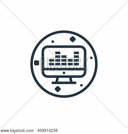sound mixer icon isolated on white background from music and sound collection. sound mixer icon thin