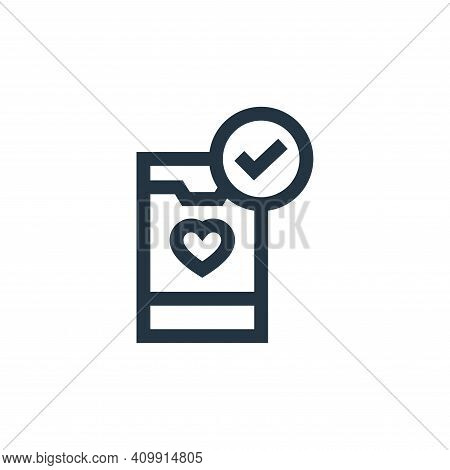 smartphone icon isolated on white background from charity collection. smartphone icon thin line outl
