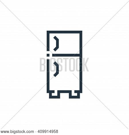 smart fridge icon isolated on white background from inside home collection. smart fridge icon thin l