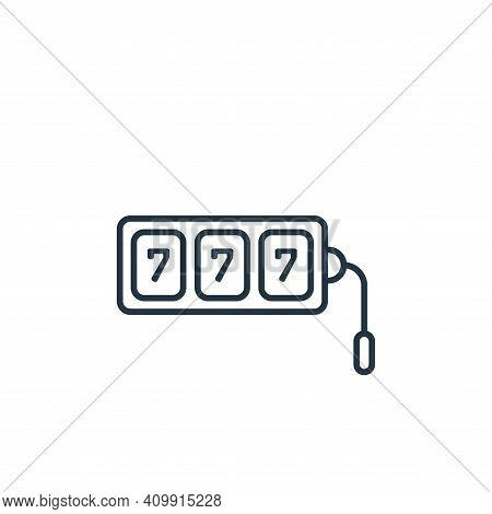 slot machine icon isolated on white background from casino collection. slot machine icon thin line o
