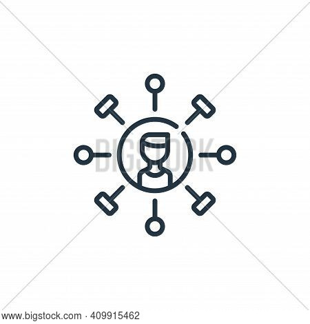 skills icon isolated on white background from life skills collection. skills icon thin line outline