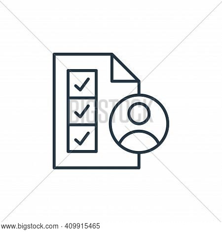 skills icon isolated on white background from leadership collection. skills icon thin line outline l