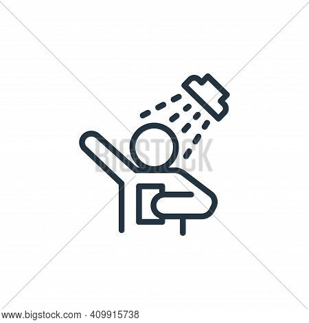 shower icon isolated on white background from health and protection collection. shower icon thin lin