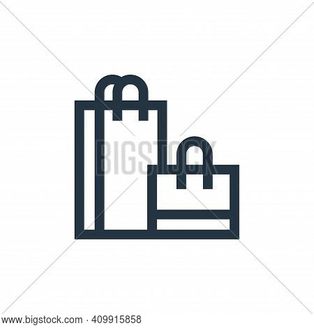 shopping bags icon isolated on white background from hobbies collection. shopping bags icon thin lin