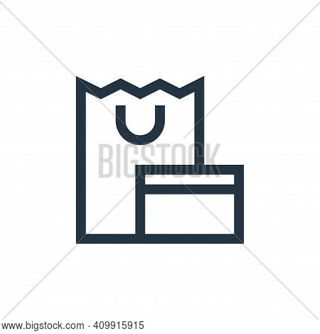 shopping icon isolated on white background from payment collection. shopping icon thin line outline