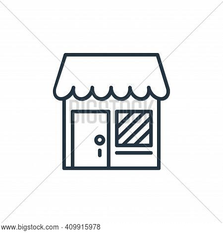 shop icon isolated on white background from shopping line icons collection. shop icon thin line outl