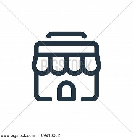 shop icon isolated on white background from shopping collection. shop icon thin line outline linear