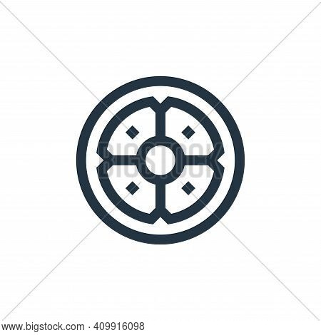 shield icon isolated on white background from history collection. shield icon thin line outline line