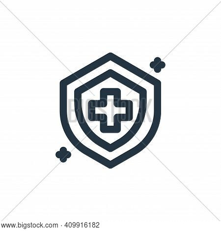 shield icon isolated on white background from coronavirus collection. shield icon thin line outline