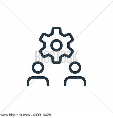 setting icon isolated on white background from work office and meeting collection. setting icon thin