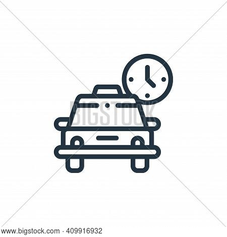 schedule icon isolated on white background from taxi service collection. schedule icon thin line out