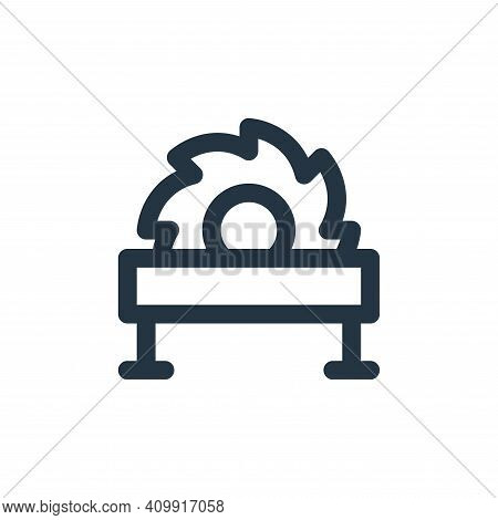 saw machine icon isolated on white background from labour day collection. saw machine icon thin line