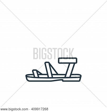 sandals icon isolated on white background from clothes and outfit collection. sandals icon thin line