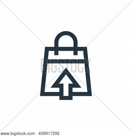 sales icon isolated on white background from marketing and growth collection. sales icon thin line o