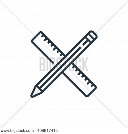 ruler icon isolated on white background from life skills collection. ruler icon thin line outline li