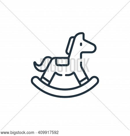 rocking horse icon isolated on white background from children toys collection. rocking horse icon th