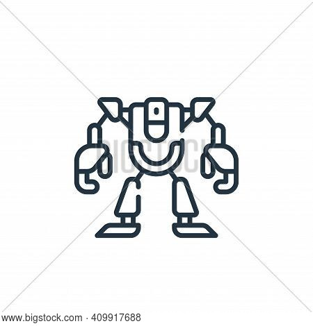 robot icon isolated on white background from technology of the future collection. robot icon thin li