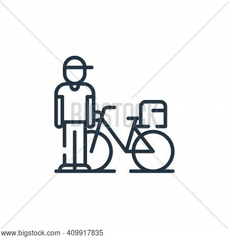 rider icon isolated on white background from delivery collection. rider icon thin line outline linea