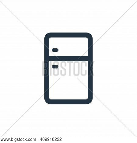 refrigerator icon isolated on white background from electronic and device collection. refrigerator i