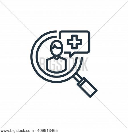 recruitment icon isolated on white background from human resources collection. recruitment icon thin