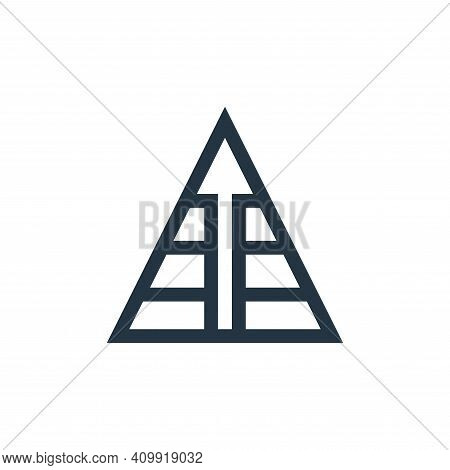 pyramid icon isolated on white background from marketing and growth collection. pyramid icon thin li