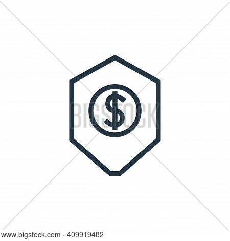 protection icon isolated on white background from finance collection. protection icon thin line outl