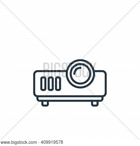 projector icon isolated on white background from cinema collection. projector icon thin line outline