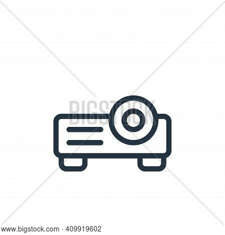 projector icon isolated on white background from online learning collection. projector icon thin lin