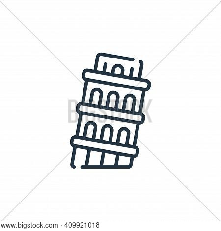 pisa tower icon isolated on white background from italy collection. pisa tower icon thin line outlin