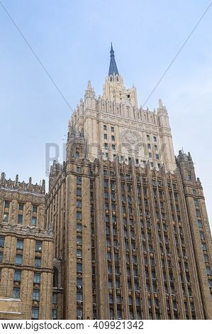 The Ministry Of Foreign Affairs Building In Moscow