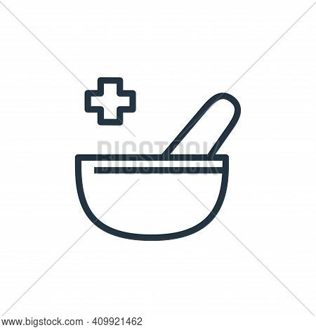 pharmacy icon isolated on white background from hospital collection. pharmacy icon thin line outline