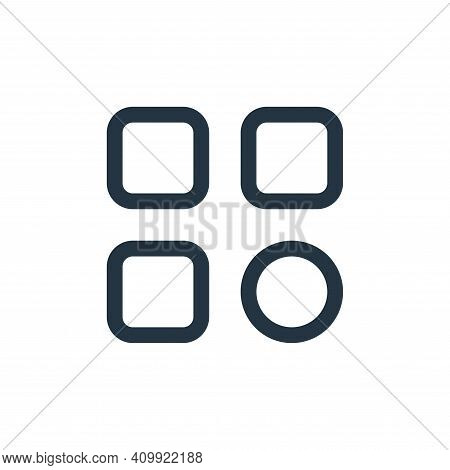 options icon isolated on white background from interface collection. options icon thin line outline