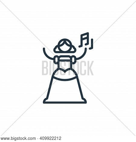 opera icon isolated on white background from general arts collection. opera icon thin line outline l