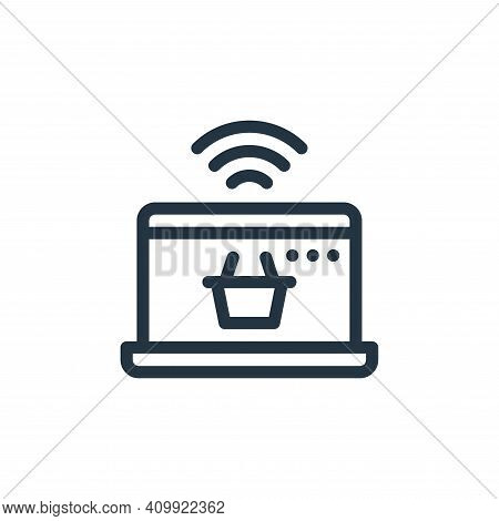 online shopping icon isolated on white background from ecommerce collection. online shopping icon th