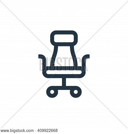 office chair icon isolated on white background from management collection. office chair icon thin li