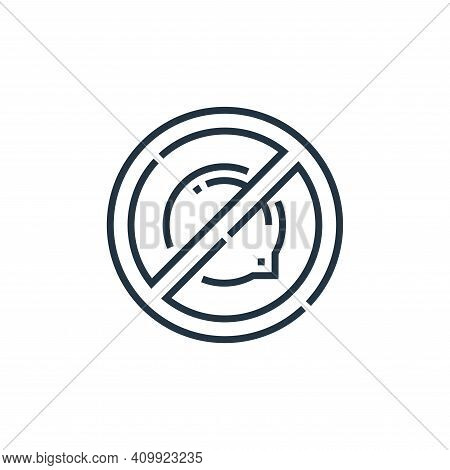 No icon isolated on white background from videoblogger collection. No icon thin line outline linear